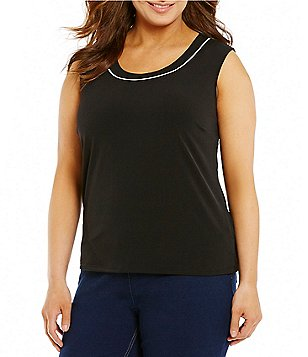 Allison Daley Plus Scoop-Neck Solid Tank