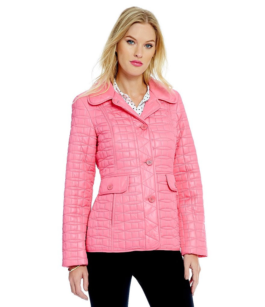 kate spade new york Packable Short Quilted Jacket With Bag