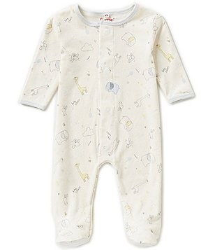 E=MC2 Baby Boys Newborn-9 Months Sweet Dreams Printed Magnetic-Closure Footed Coverall