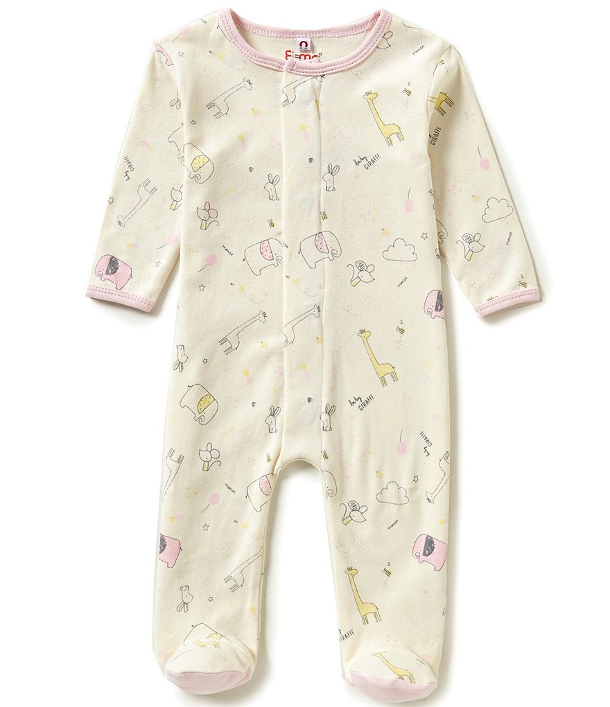 E=MC2 Baby Girls Newborn-9 Months Sweet Dreams Printed Magnetic-Closure Footed Coverall