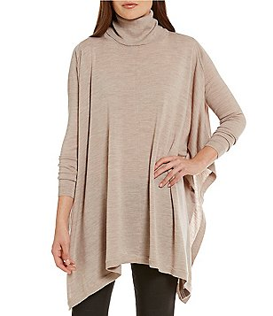 Katherine Kelly Olivia Turtleneck Maxi Poncho Sweater