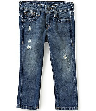 True Religion Little Boys 2T-7 Geno Relaxed Distressed Slim-Fit Jeans