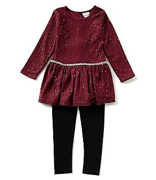 Sweet Heart Rose Little Girls 4-6X Lace Tunic & Leggings Set