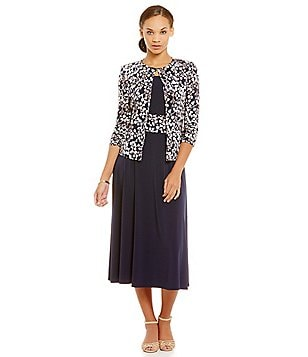Jessica Howard Ruched Detail Swing Jacket Dress