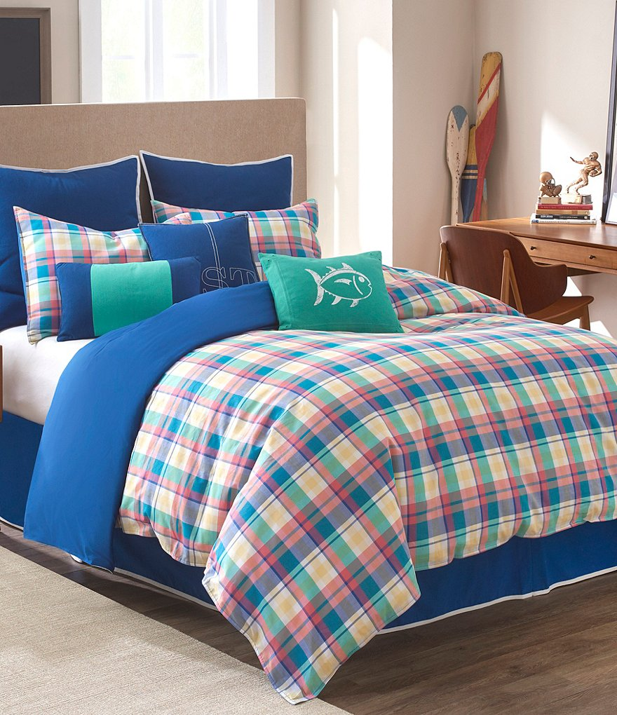 Southern Tide Prep School Plaid Comforter Set