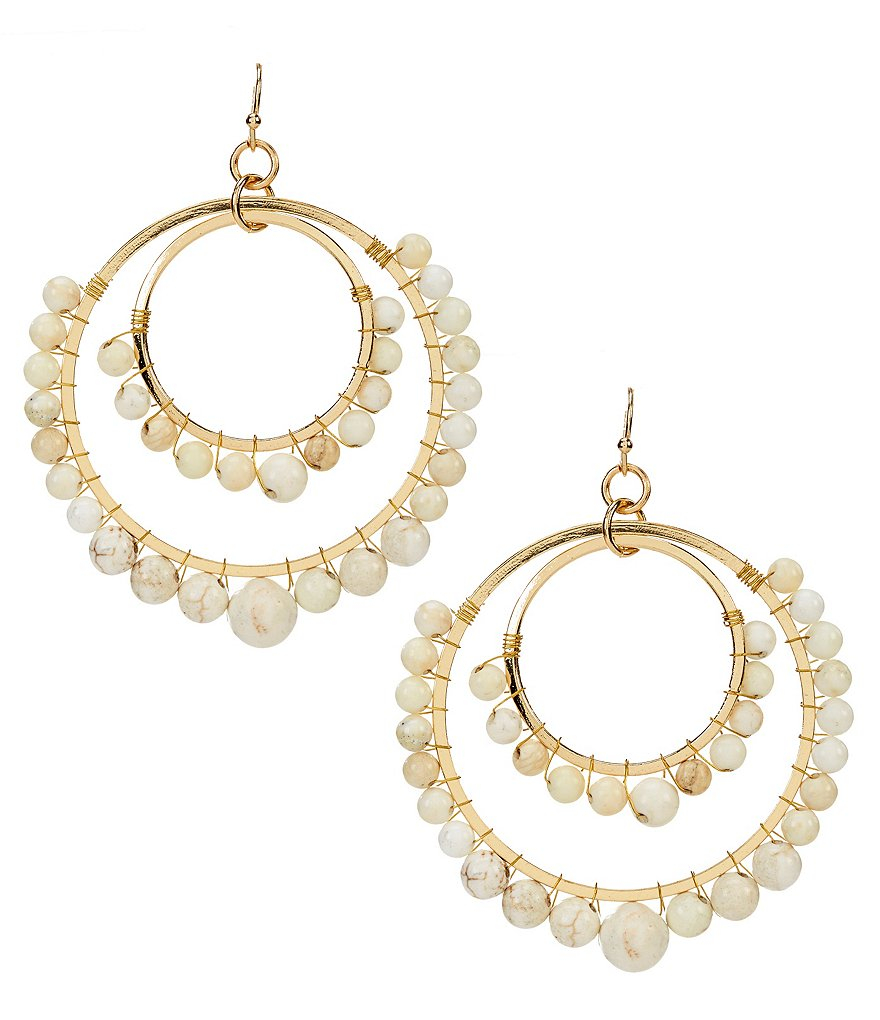 Anna & Ava Jillian Gold Plated Double Orbital Earrings