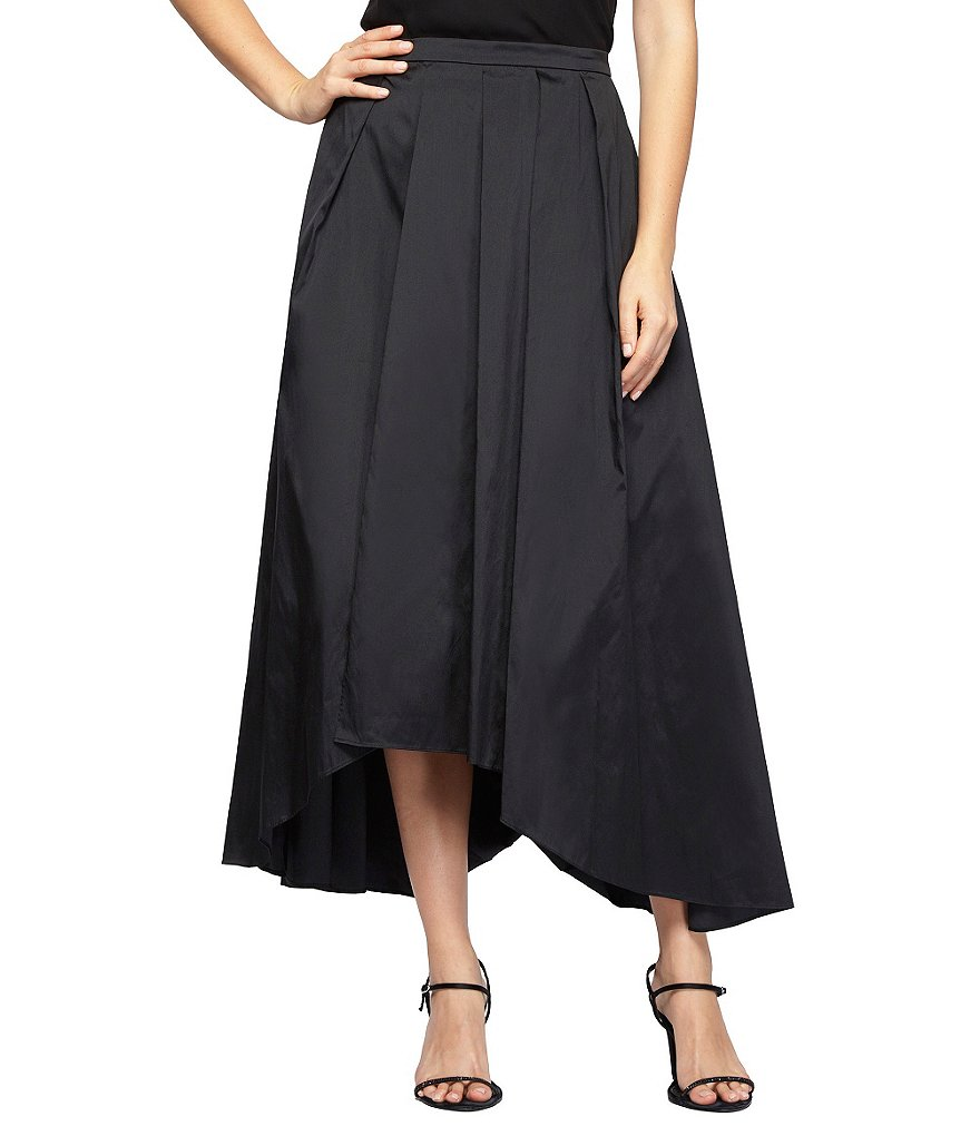Alex Evenings Tea-Length Taffeta Hi-Low Ball Skirt