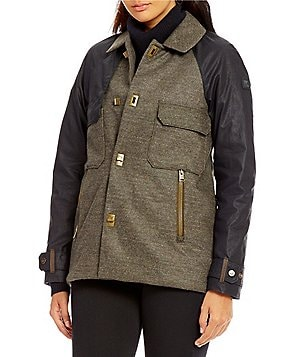 Sorel Aylwin Single-Breasted Down Wool Trench Coat