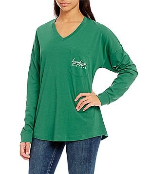 Lauren James V-Neck Oversized Jersey Tee