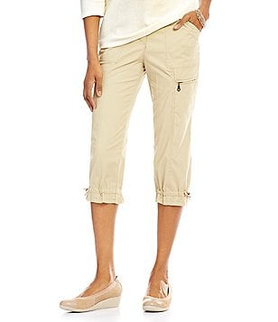 Allison Daley Ribbed Waist Cargo Capri