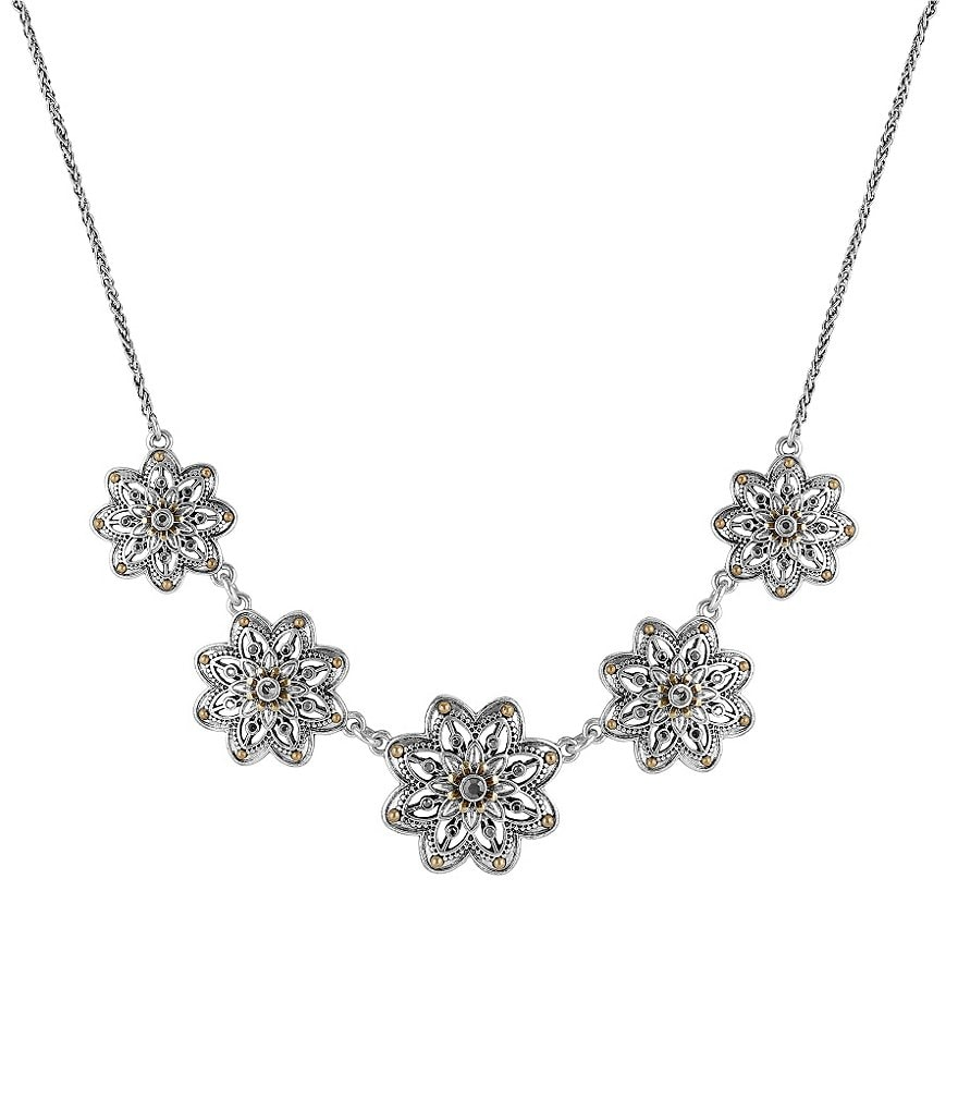 Lucky Brand Openwork Floral Collar Necklace