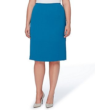 Tahari ASL Plus Crinkle Pencil Skirt