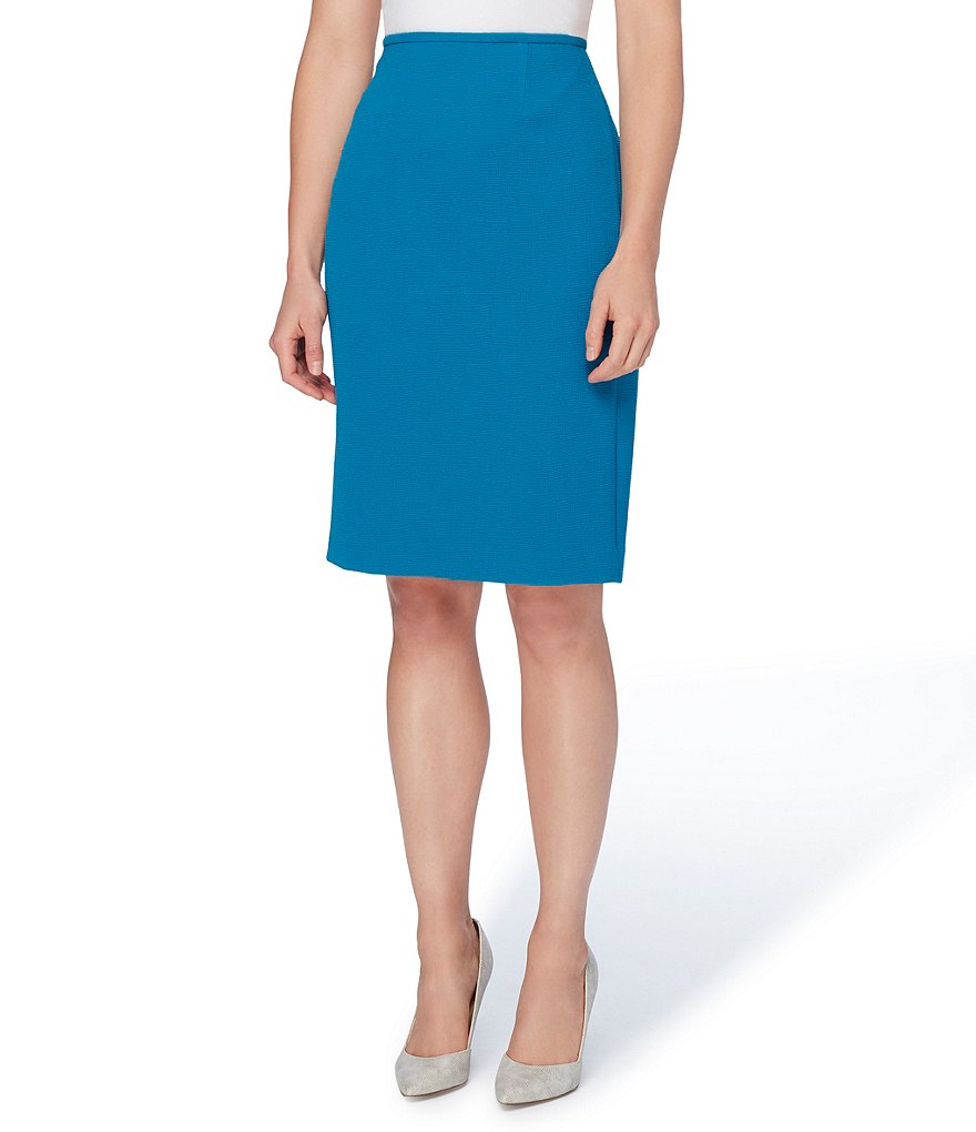 Tahari ASL Stretch Crinkle Pencil Skirt
