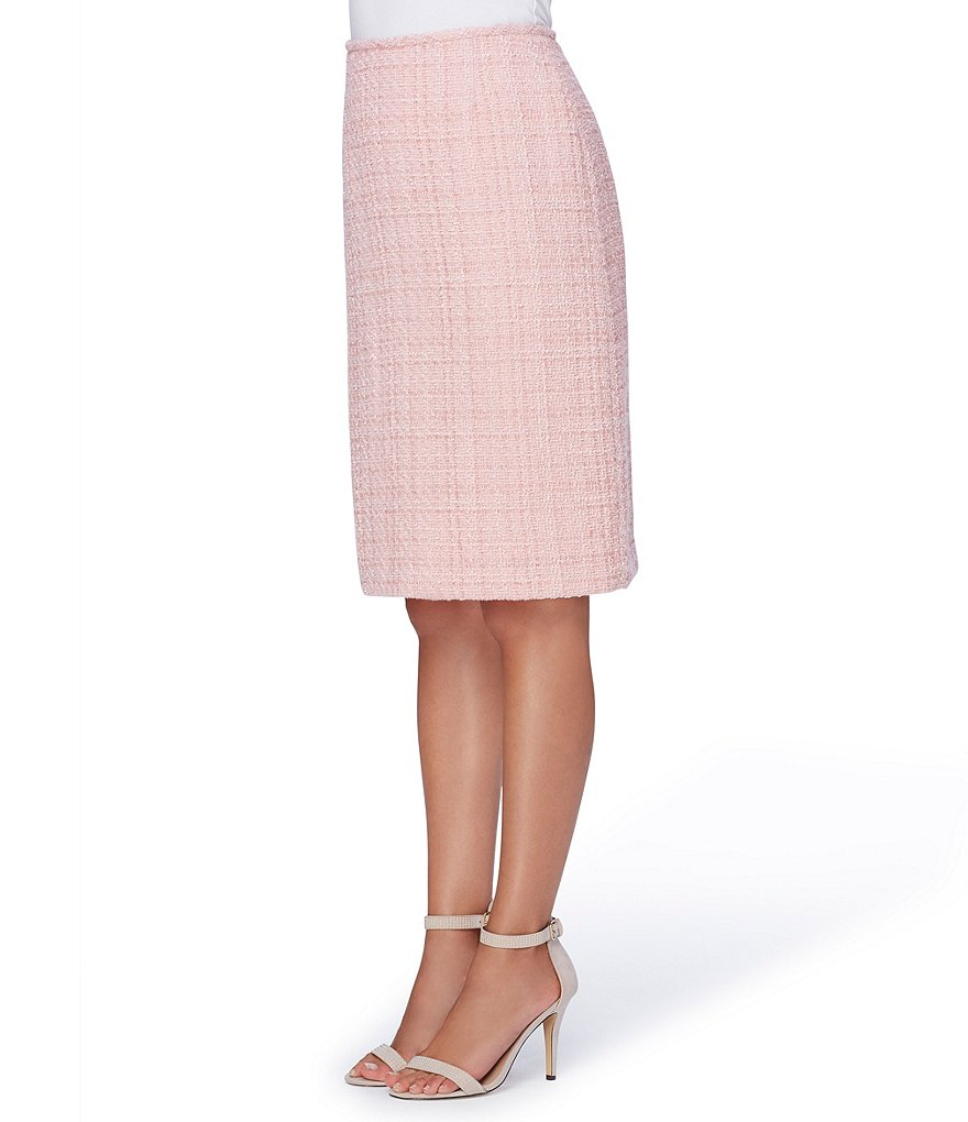 Tahari ASL Mid-Rise Boucle Pencil Skirt