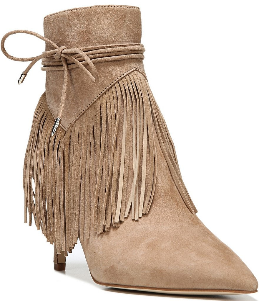 Sam Edelman Marion Pointed Toe Fringe Booties