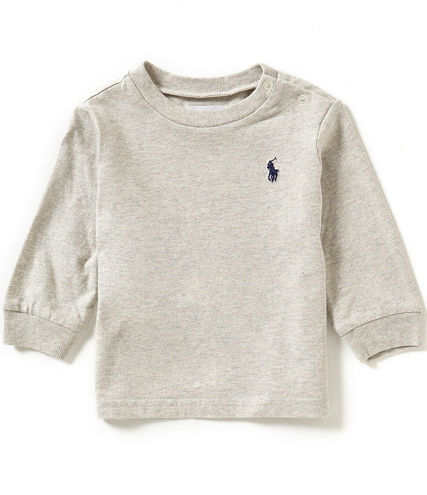 Ralph Lauren Childrenswear Baby Boys 3-24 Months Long-Sleeve Crewneck Jersey Tee