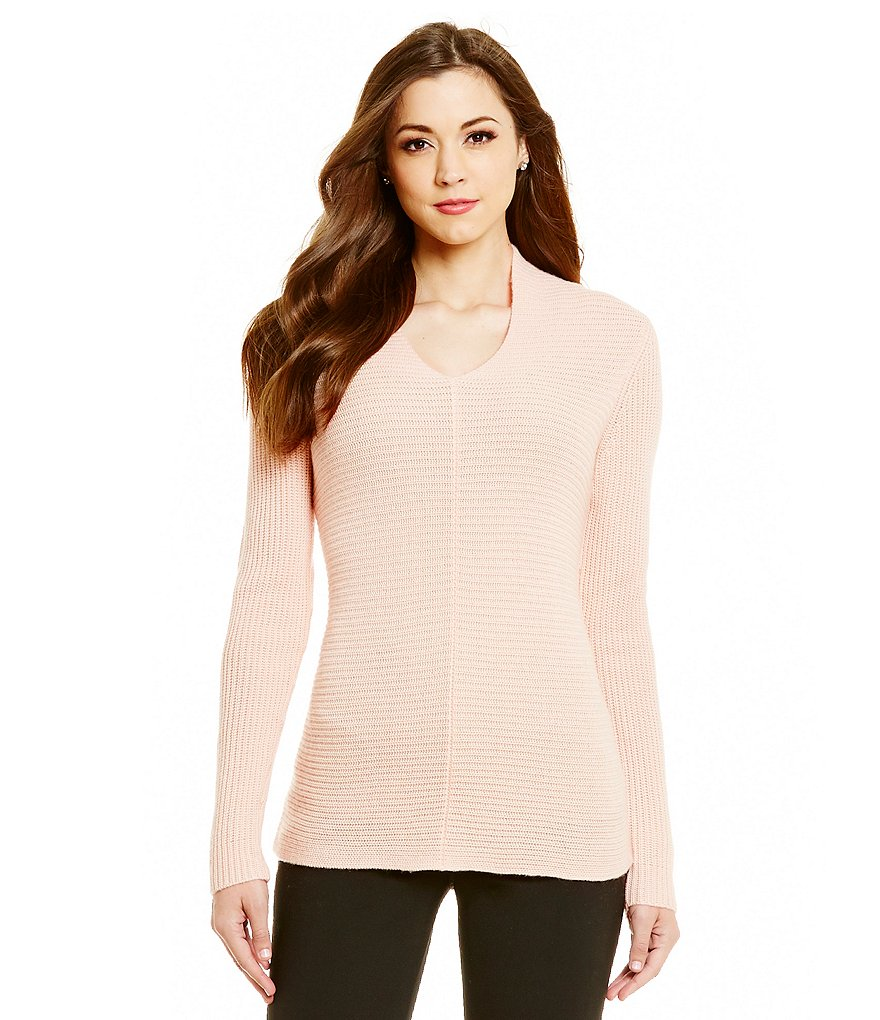 Antonio Melani Penelope Ribbed V-Neck Sweater