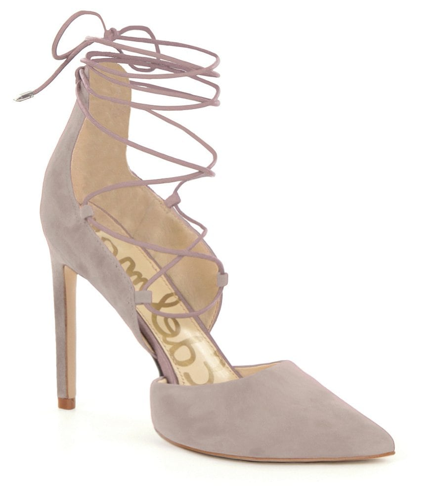 Sam Edelman Helaine Suede Lace-Up d´Orsay Pumps