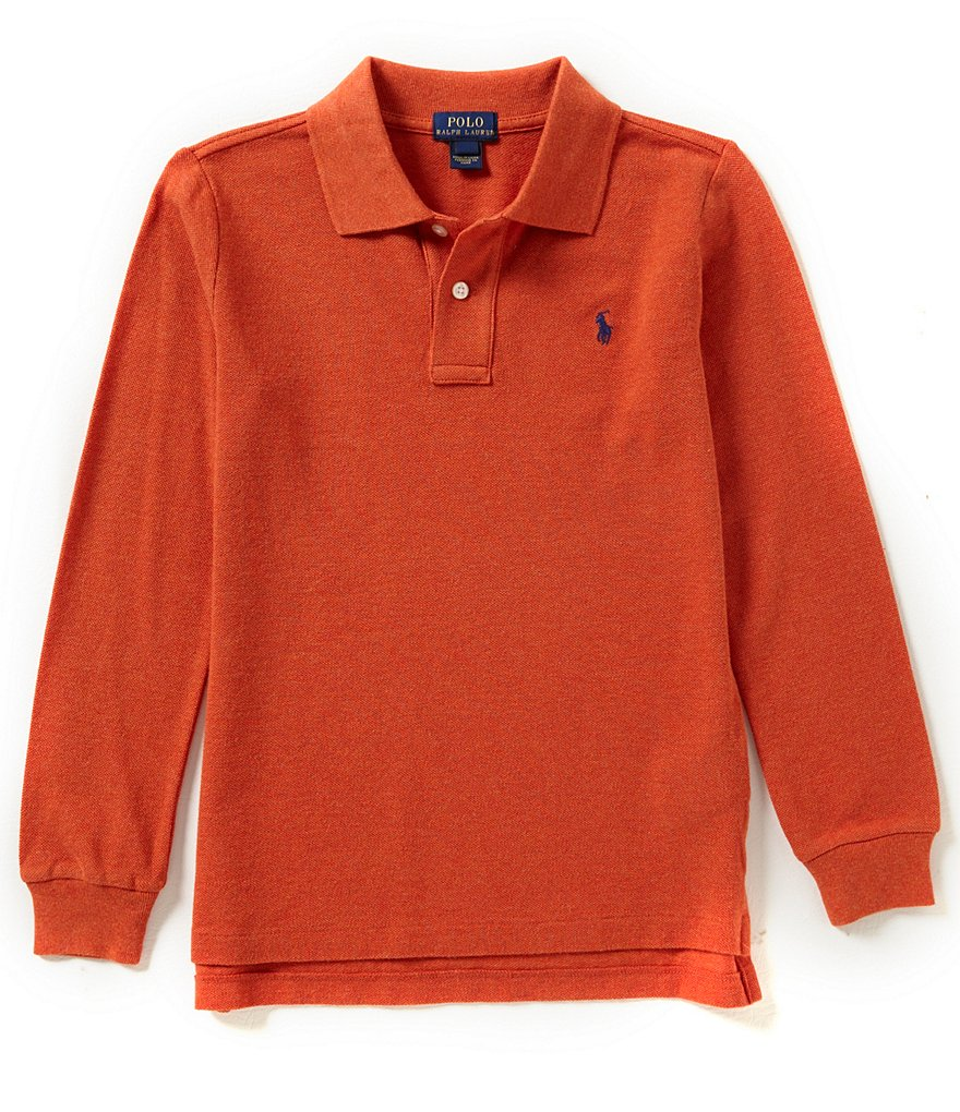 Ralph Lauren Childrenswear Little Boys 2T-7 Long-Sleeve Solid Mesh Polo Shirt