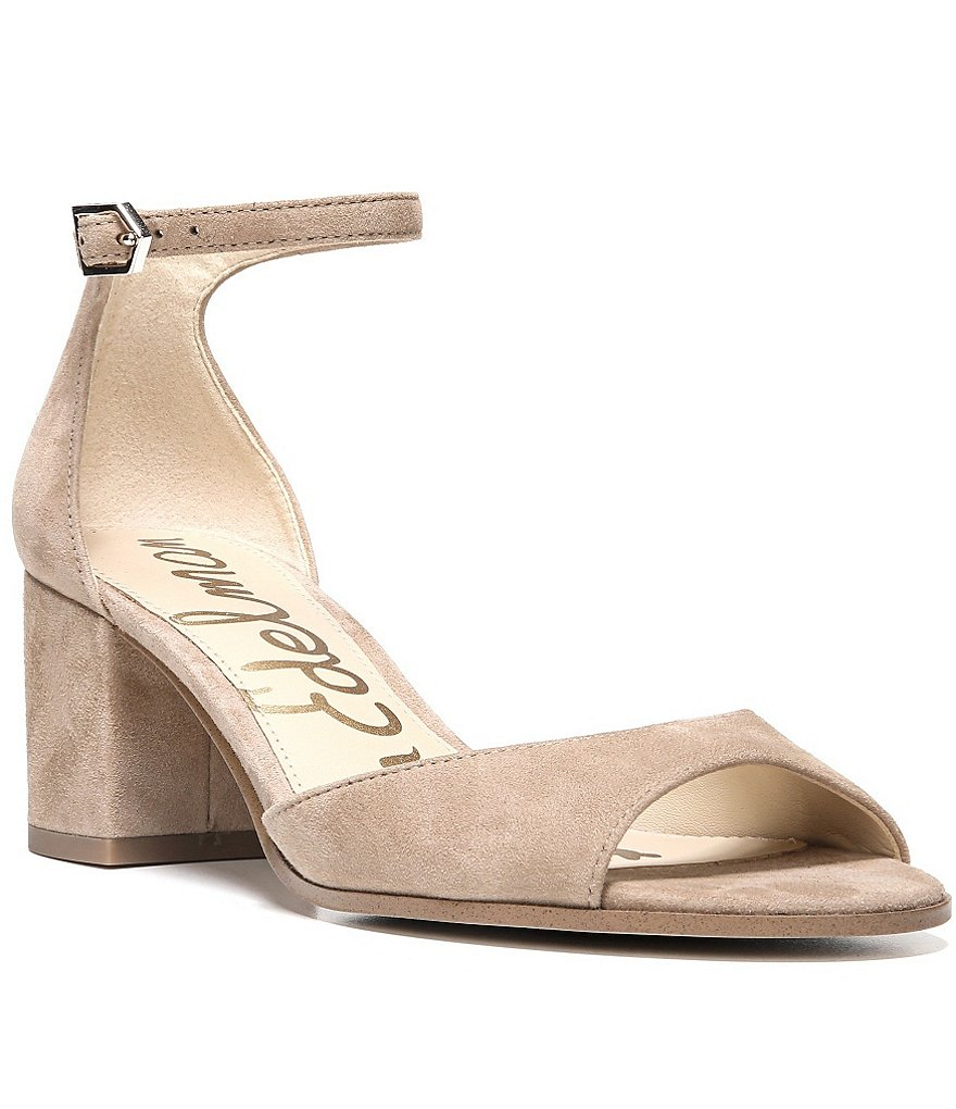 Sam Edelman Susie Suede Block Heel Dress Sandals