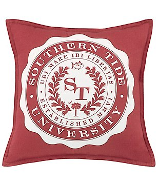 Southern Tide Skipjack Chino University Twill Square Feather Pillow