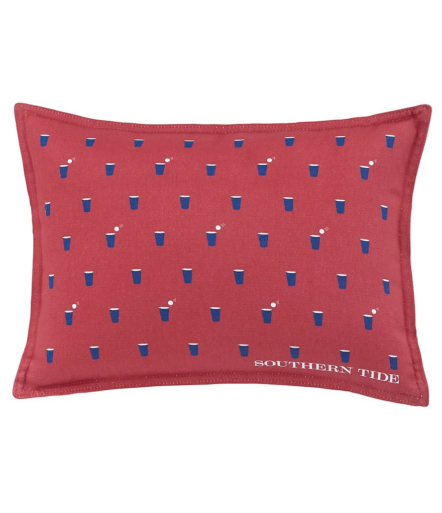 Southern Tide Skipjack Chino Beer Pong Cotton Twill Oblong Feather Pillow