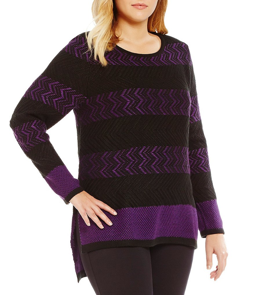 Westbound Plus Square Hi-Low Hem Sweater