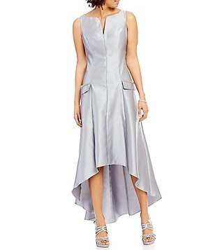 Ignite Evenings Sleeveless Mikado Hi-Low Dress