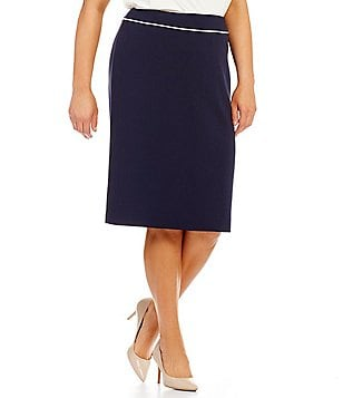 Tahari ASL Plus Framed Pencil Skirt