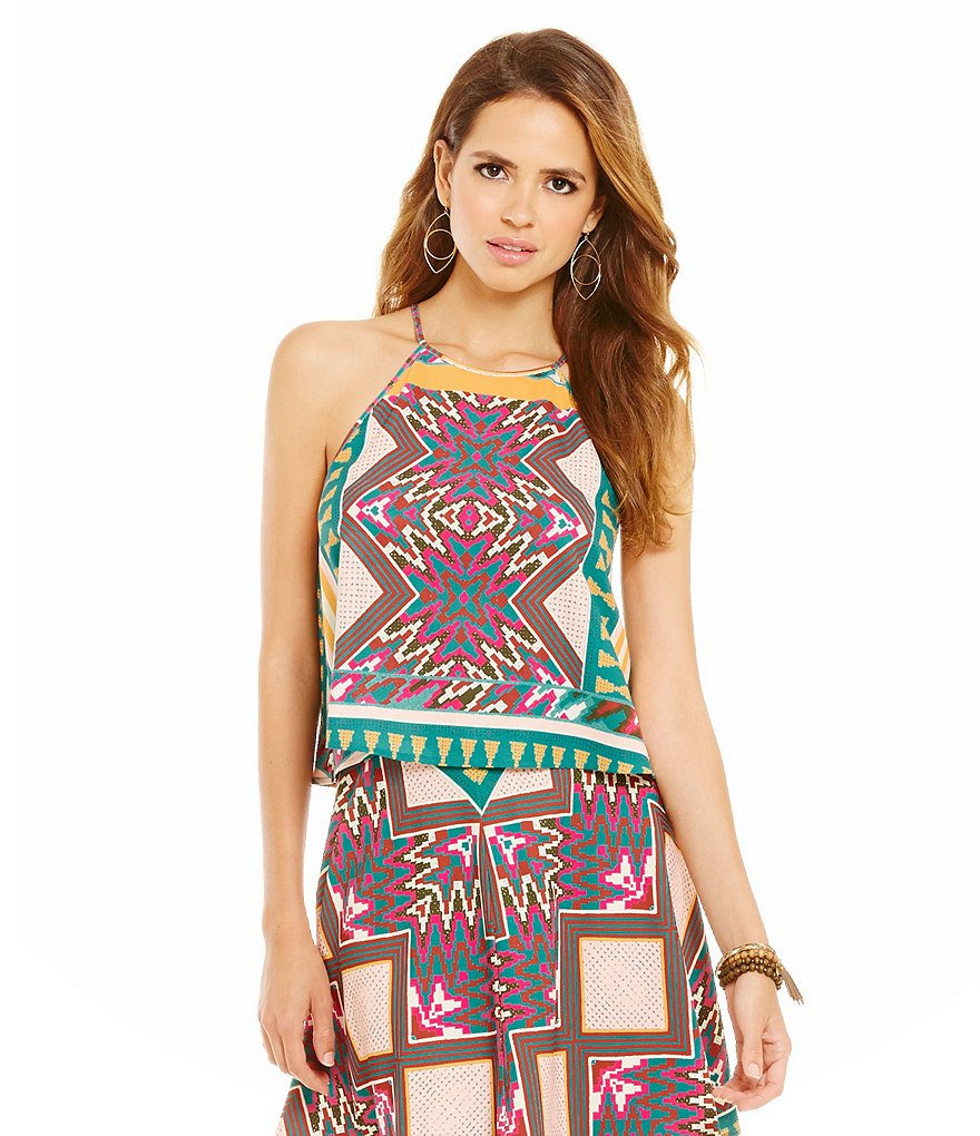 Gianni Bini Erin Printed Square-Neck Tank