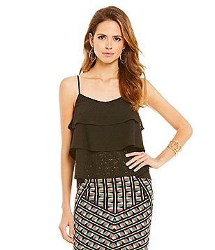 Gianni Bini Joan Tiered Knit tank top