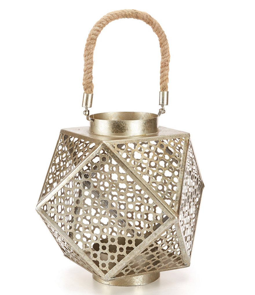 Noble Excellence Naturals Geometric Metal Lantern