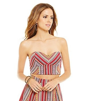Gianni Bini Sam Sweetheart Neck Strapless Bustier Top