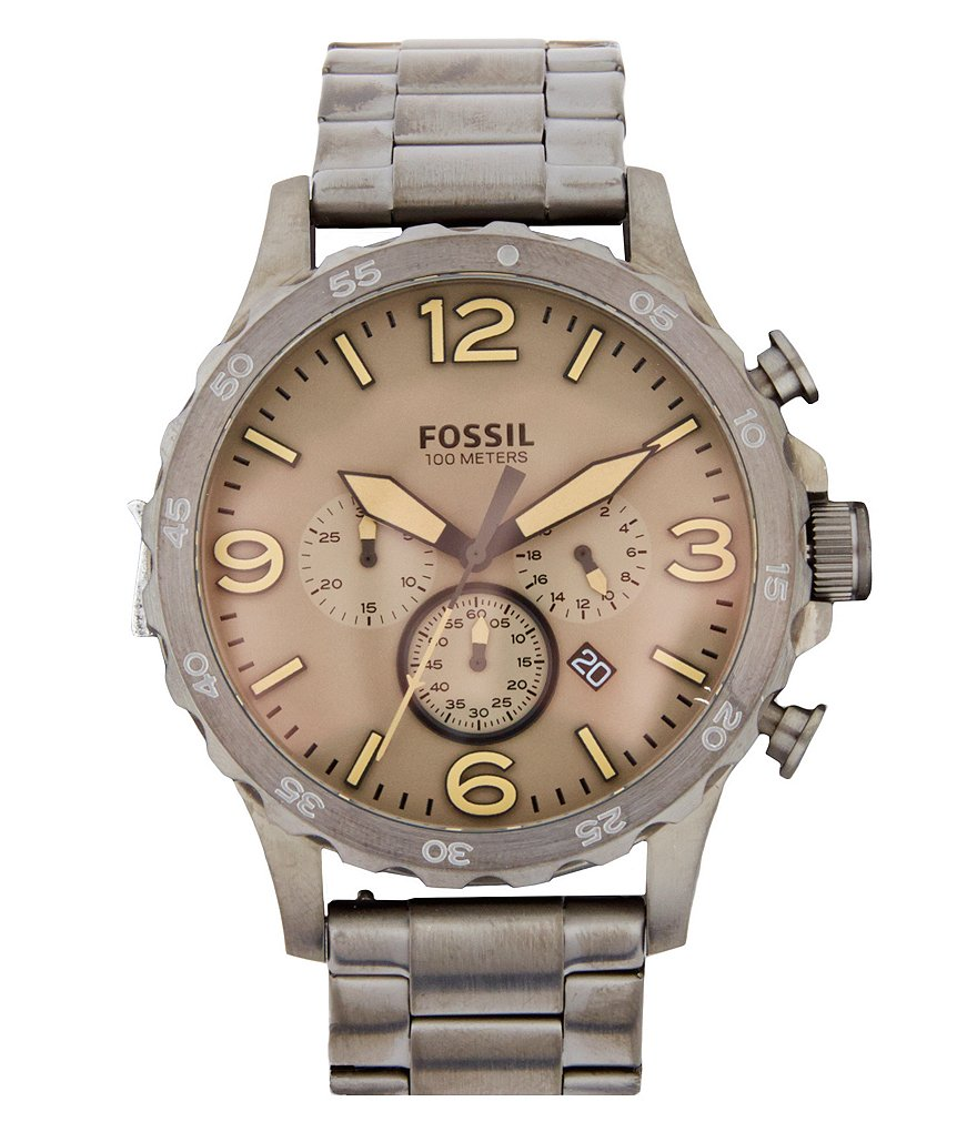 Fossil Nate Chronograph & Date Bracelet Watch
