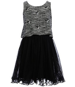 Hannah Banana Black Label Big Girls 7-16 Popover Beaded Dress