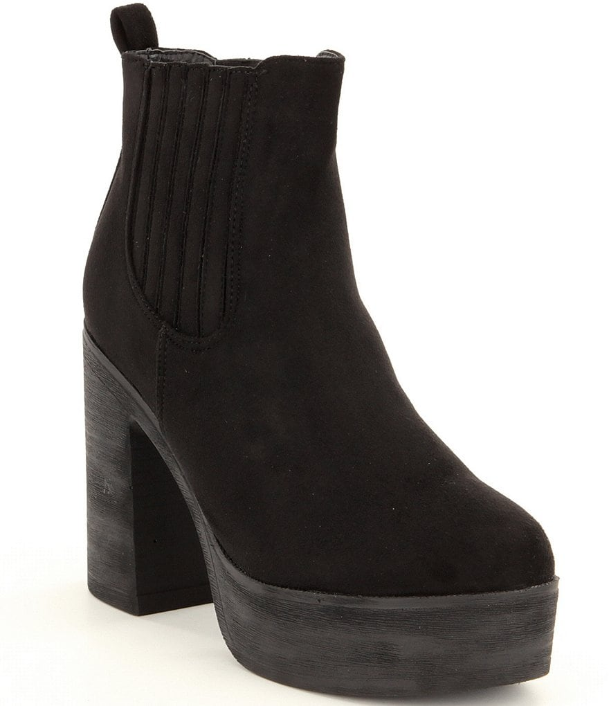 Coolway Brunella Block Heel Chelsea Booties