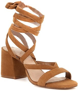 GB Wrap-City Block Heel Dress Sandals