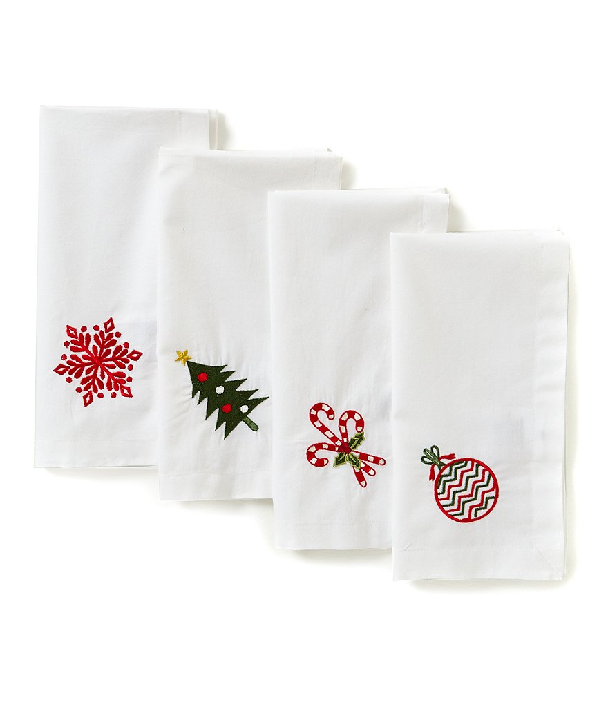 Aman Imports Christmas Napkins, Set of 4