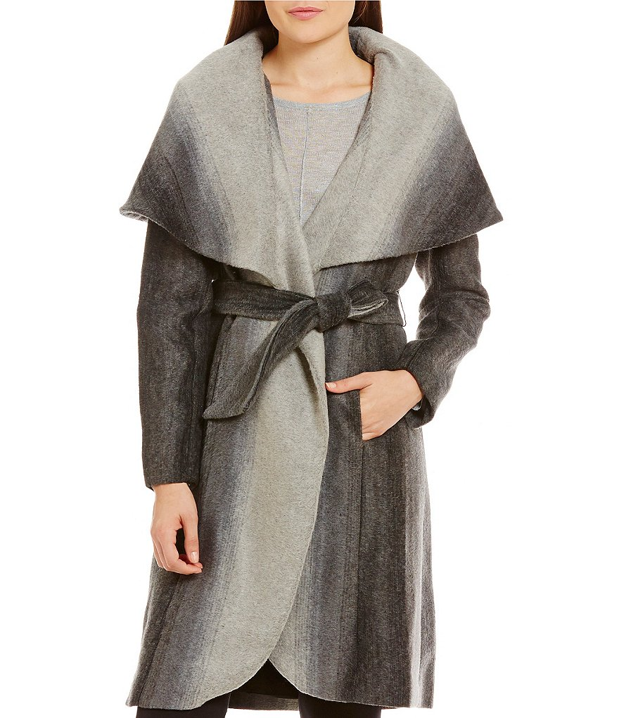 Zac Posen Alisha Shawl Collar Wrap Coat