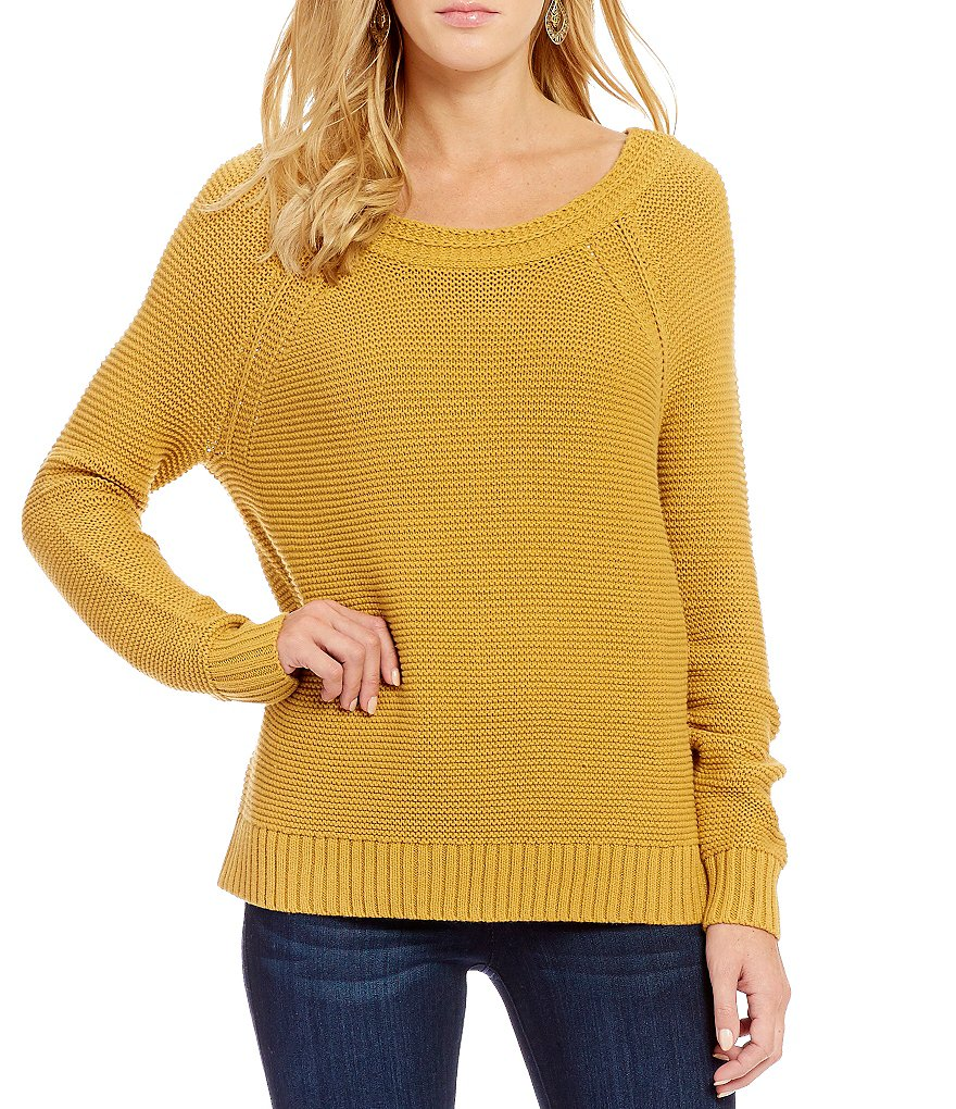 Roxy Lost Coastlines Reversible Open-Neck Sweater