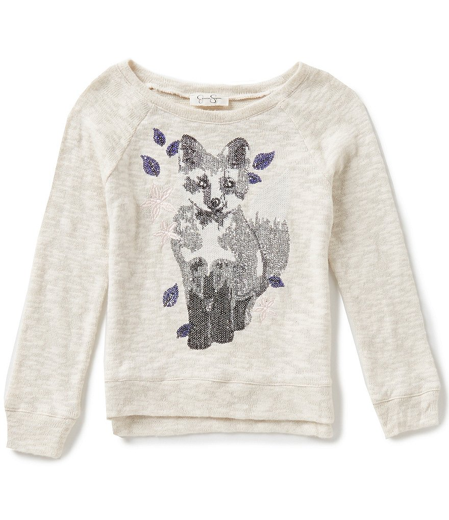 Jessica Simpson Big Girls 7-16 Fox Graphic Sweatshirt