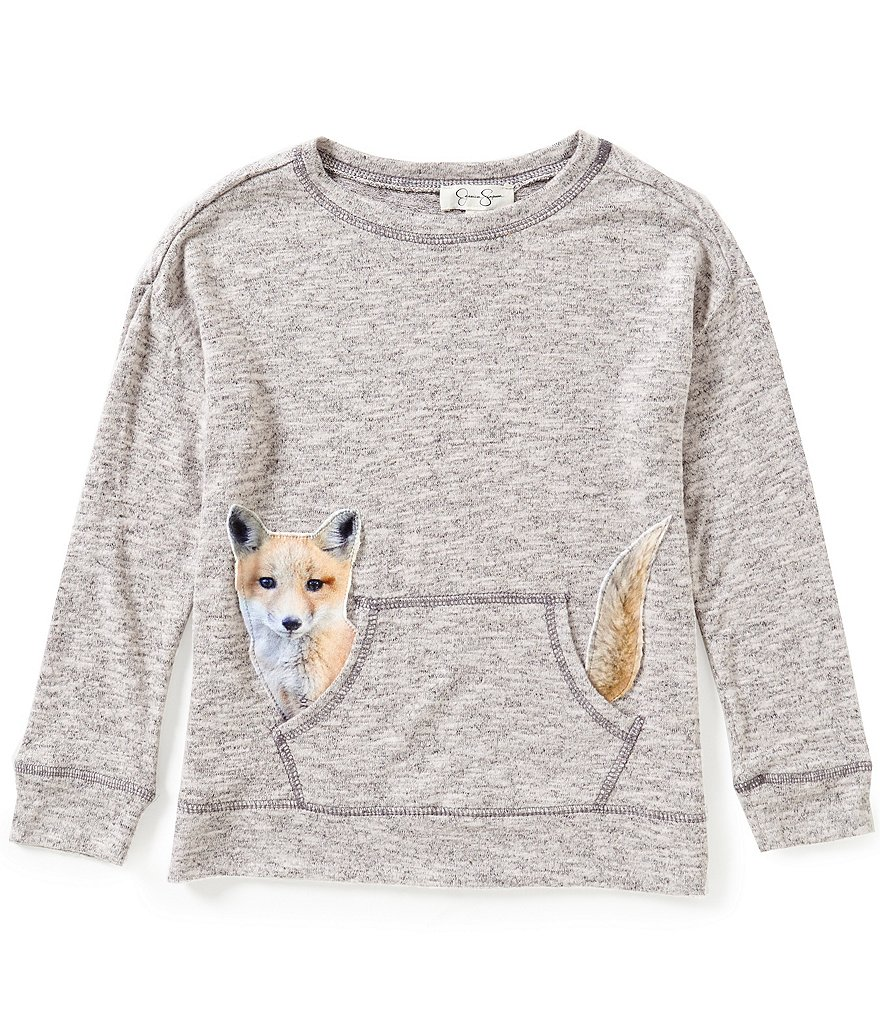 Jessica Simpson Big Girls 7-16 Cinna Long-Sleeve Fox Top
