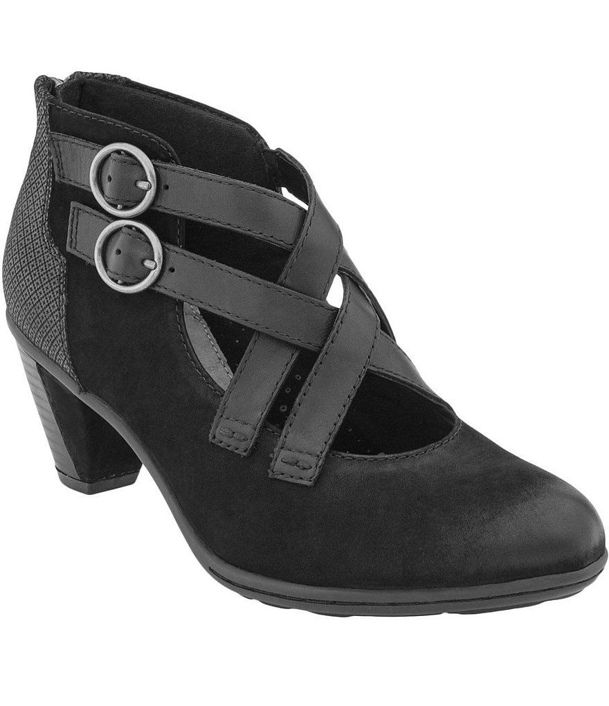 Earth Amber Criss Cross Strap Booties