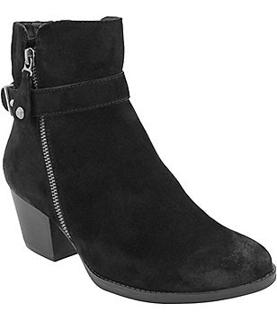 Earth Royal Block Heel Booties