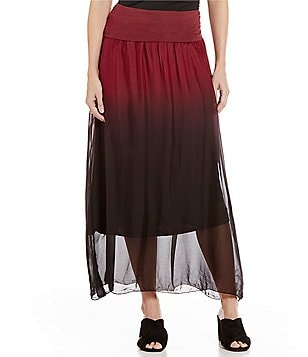 M Made In Italy Ombre Soft Maxi Skirt