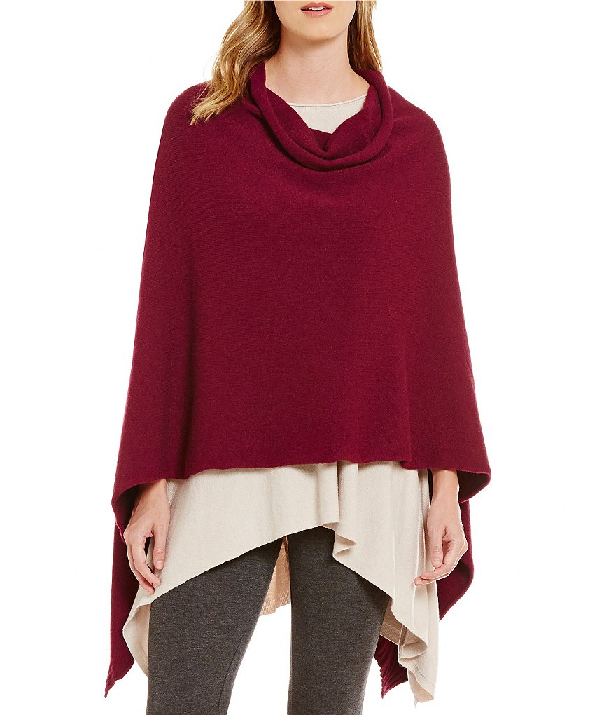 M Made In Italy Solid Slouchy Poncho
