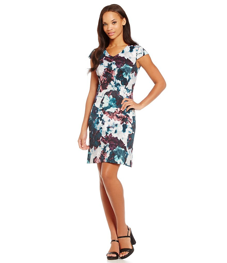 Antonio Melani Ellen Printed Scuba Dress