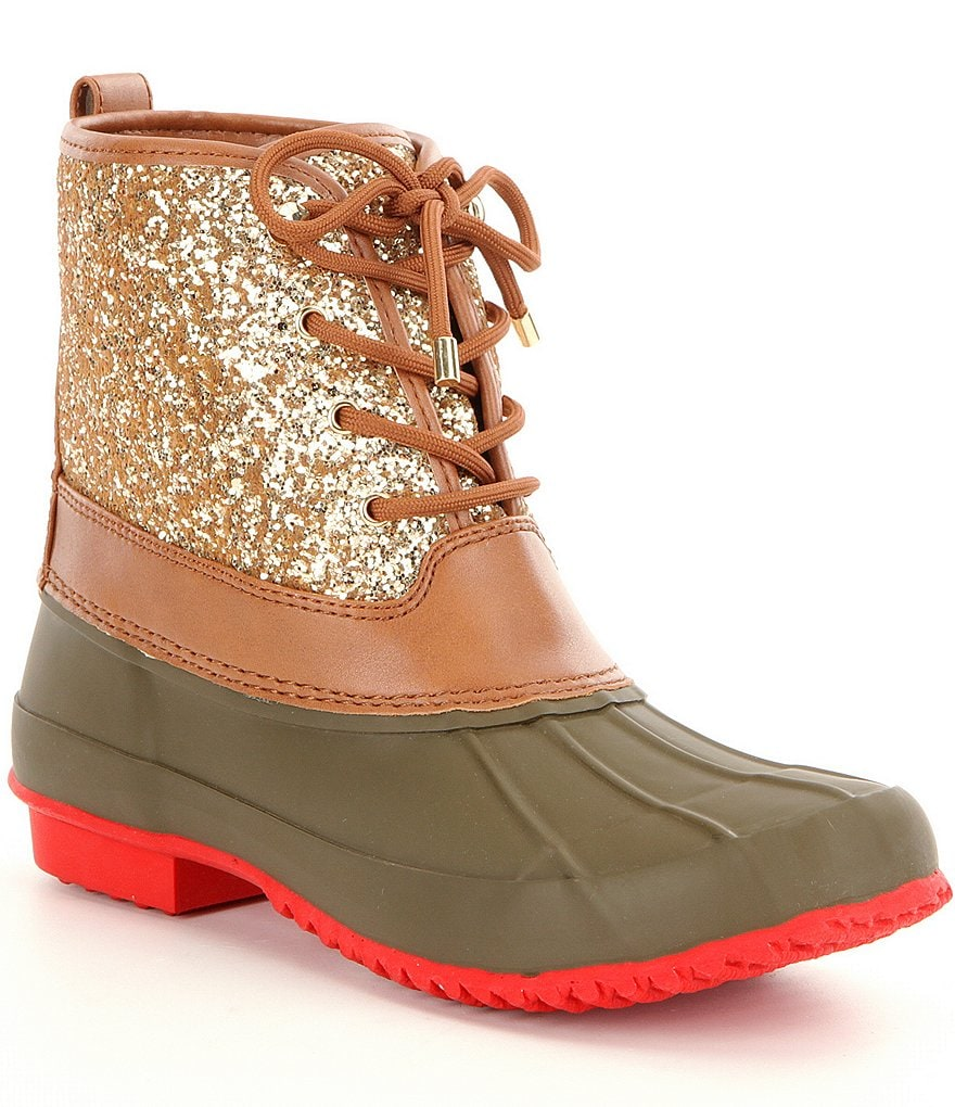 Gianni Bini Stormie Glitter Duck Boots