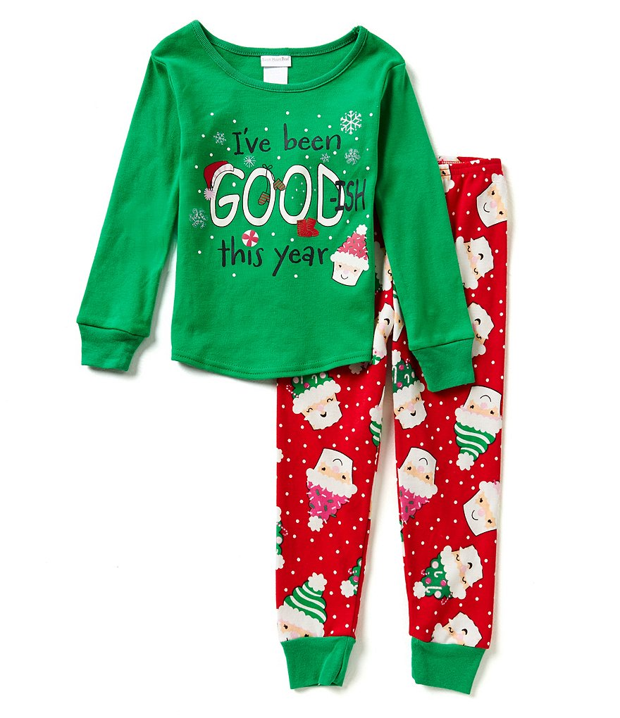 Dollie & Me Little/Big Girls 6X-14 Santa Pajama Top & Pants Set