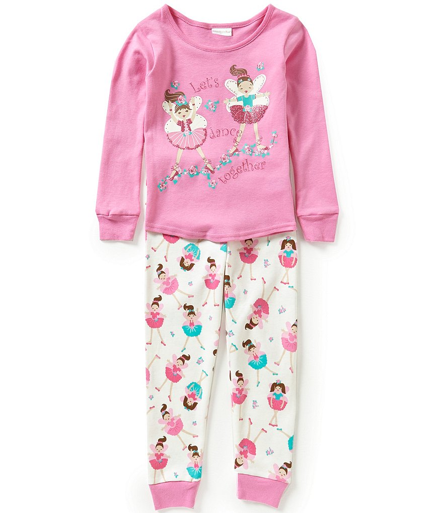 Sweet Heart Rose Little Girls 4-6X Let´s Dance Printed Pajama Set